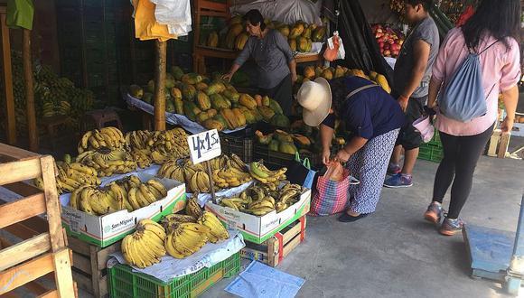 Precios de frutas y otros productos agrícolas se mantienen en el Grau