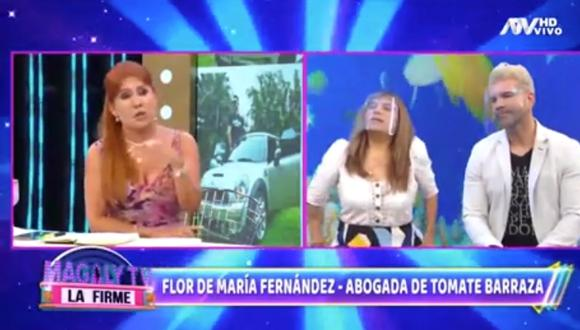 La abogada estuvo presente en el set de Magaly TV, la firme, para defender al cantante de las acusaciones de su expareja.