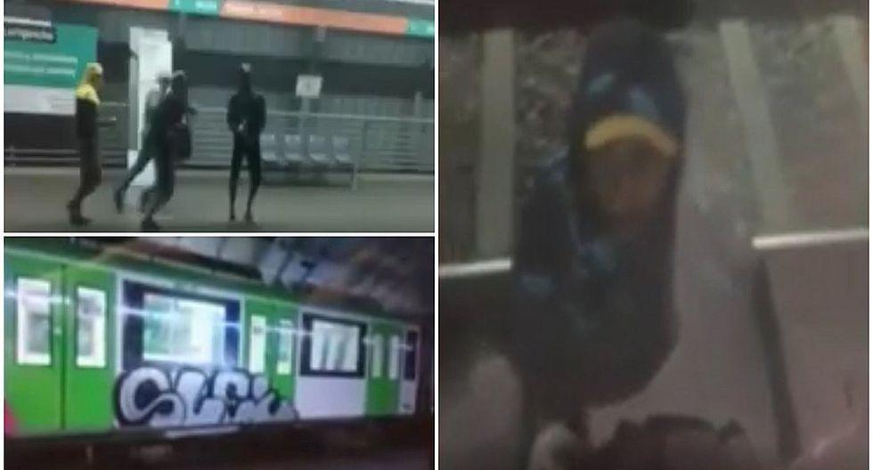 Captan imágenes de los vándalos que ocasionaron caos en el Metro de Lima (VIDEO)