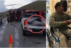 Junín: Ebrio despista camión en la Carretera Central y para evitar sanciones fingió estar muerto