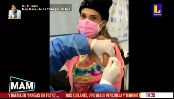 Thais Casalino se vacunó contra el COVID-19 y detalló que síntomas tuvo tras ser inmunizada. (Foto: Captura)
