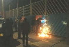 Autoridades soldaron puerta de un terminal informal en Juliaca