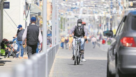 Arequipa: MTC a través de Promovilidad brinda asistencia técnica a gobiernos locales de diferentes regiones del país para la implementación de ciclovías en las regiones del país. (foto referencial)