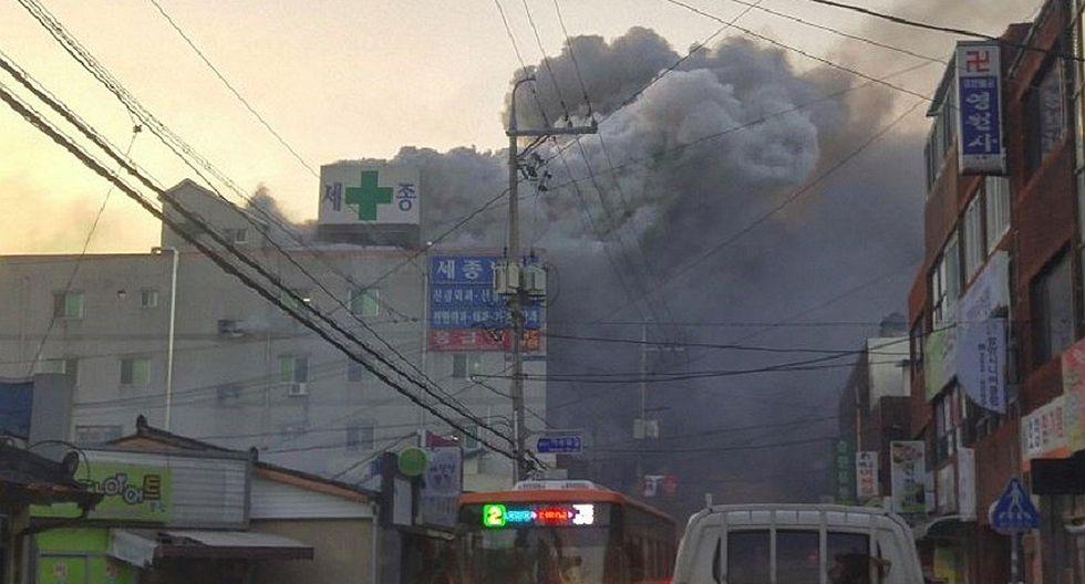 Corea del Sur: Incendio en hospital deja 37 muertos (VIDEO y FOTOS)