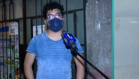 Hijo contando sobre lo que vivió para encontrar el cuerpo de su padre.   Foto: Latina