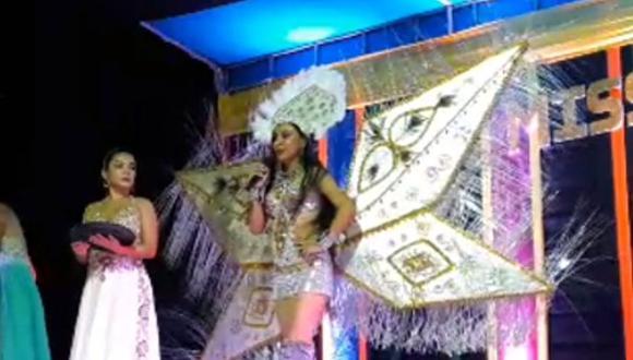 """Concursante al Miss Carnaval Bagua: """"Mi internet nos permite entrar al internet"""""""