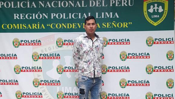 Emilio Javier Reátegui Salas (29) fue capturado por la Policía en flagrante delito de feminicidio en el grado de tentativa. (PNP)