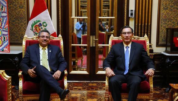 Congreso y Martín Vizcarra: Este es el procedimiento a seguir para la vacancia presidencial (Foto: Presidencia)