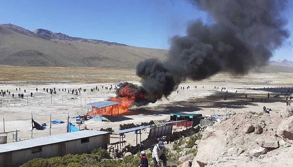 Atacan campamento del proyecto Vilavilani II