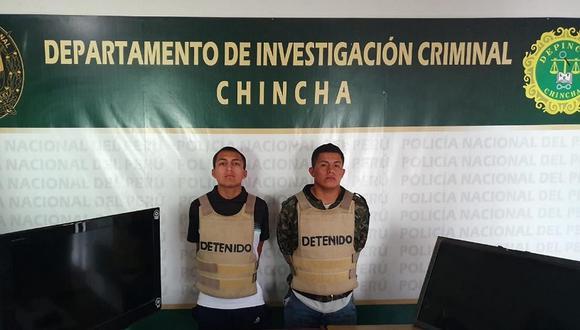 Detenidos por presunto robo en hospedaje de Chincha