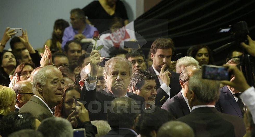 Alfredo Barnechea responsabiliza a los poderes Ejecutivo y Judicial en el velorio de Alan García (VIDEO y FOTOS)