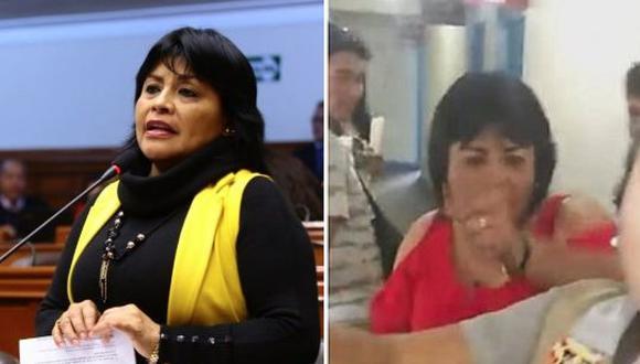 Congresista Esther Saavedra ofrece disculpas tras agredir a periodista en Tarapoto