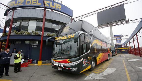 Representante de Cruz del Sur expresó que hay una retracción de la demanda de viajes en buses interprovinciales. (Foto: GEC)