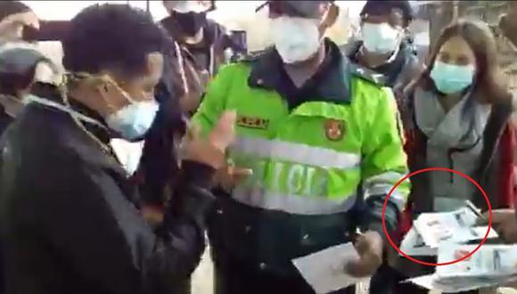 Personero de Perú Libre fue acusado de firmar 67 cédulas de sufragio en Carabayllo. (Foto: Captura video)