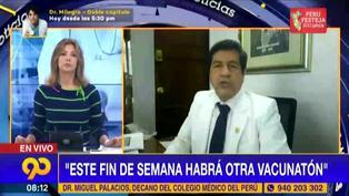 """Decano del CMP: """"Creemos que en setiembre debe estar aquí la tercera ola"""" (VIDEO)"""