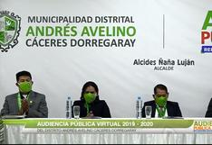 Regidores no fiscalizaron a la gestión de Alcides Ñaña en distrito Cáceres