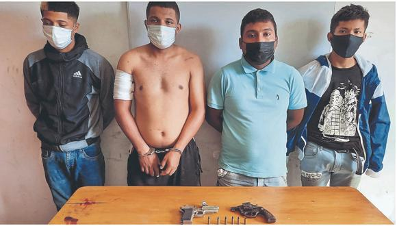 """Según  la Policía, los integrantes de esta banda participaron del intento de robo a mano armada a la ferretería """"Asdicar"""" en la ciudad de Tumbes."""