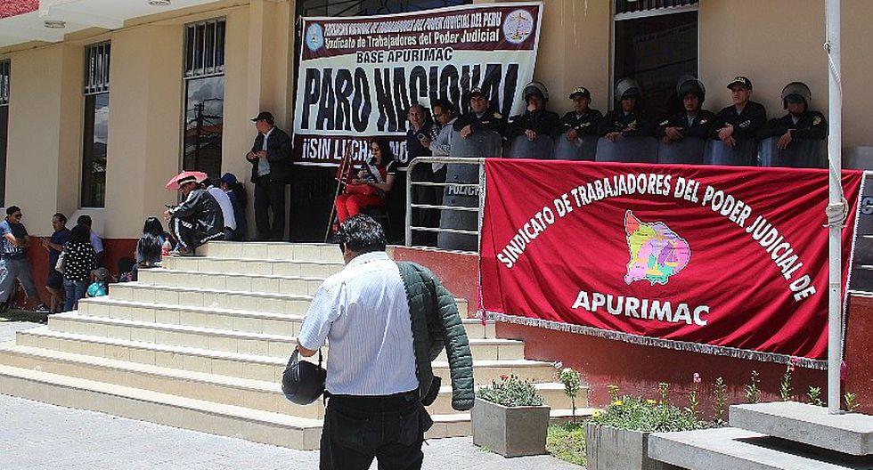 Cerca de 40 mil procesos judiciales paralizados por huelga judicial en Apurímac