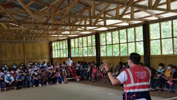 Una obra que está realizando el Gobierno Regional de Amazonas en el distrito de Imaza, le dará empleo a los habitantes del sector quienes conocieron sus beneficios laborales como trabajadores de construcción civil (Foto: Sunafil)