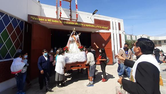 La imagen de la Virgen de Chapi recorrió las calles del distrito de Ciudad Nueva