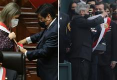 Francisco Sagasti y María del Carmen Alva usaron banda presidencial al mismo tiempo