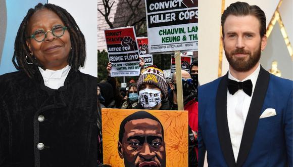 Whoopi Goldberg, Chris Evans y otras figuras de Hollywood aplauden la condena a Derek Chauvin. (Foto: AFP)
