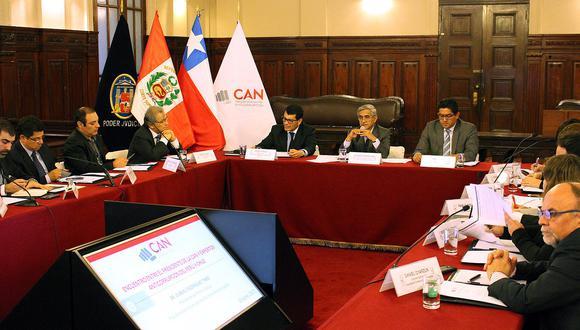 CAN recibe a expertos en anticorrupción de Perú y Chile