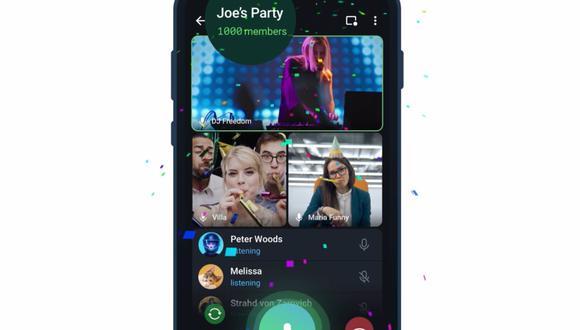 Telegram ha incrementado la capacidad de las videollamadas grupales en su plataforma, que ahora admiten hasta mil espectadores. (Telegram / Europa Press)