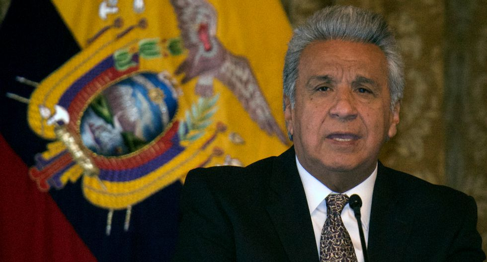 "Lenín Moreno tildó de ""terrorismo"" incumplir medidas por coronavirus (Foto: AFP)"