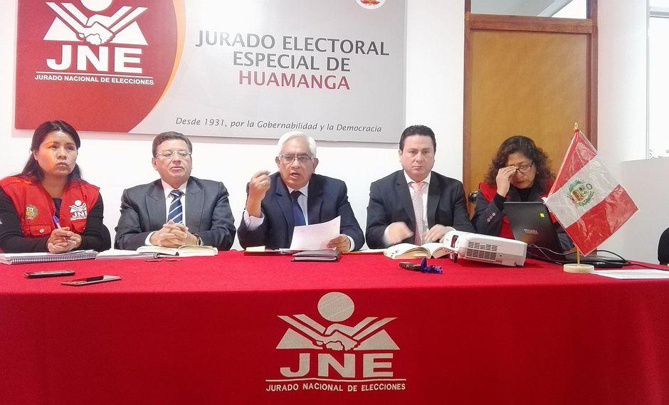 Aún ningún candidato al gobierno regional fue admitido por el JEE-H