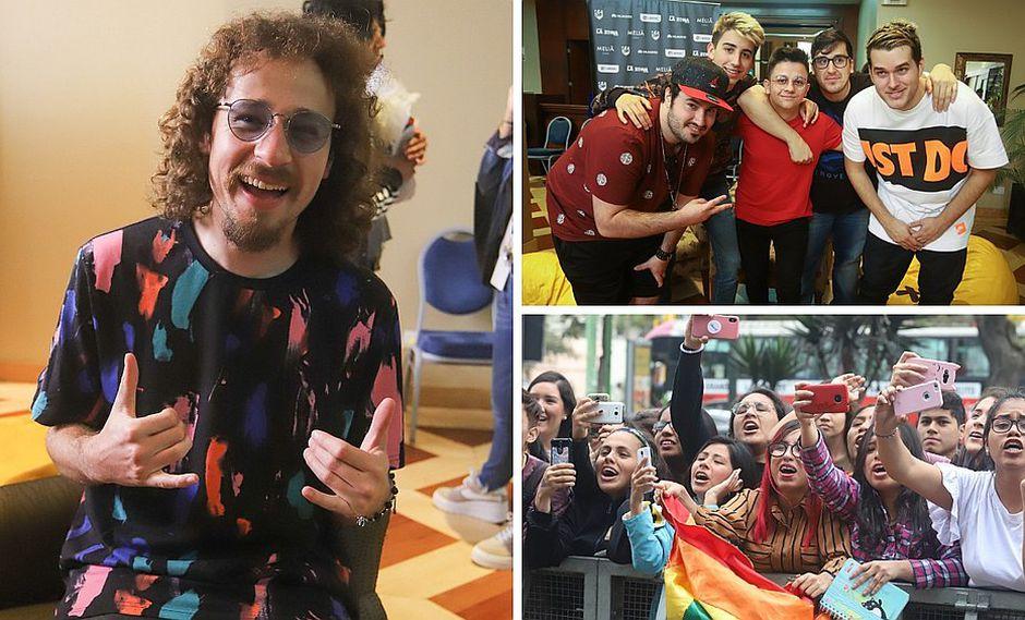 Youtubers famosos llegaron a Lima para el Entel Media Fest (VIDEOS)