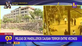 Peleas de pandilleros atemorizan a los vecinos de la Asociación San José en Ate