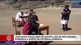 Jóvenes enseñan de manera voluntaria a niños de bajos recursos en Ayacucho