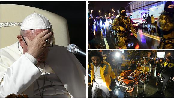 """Atentado en Estambul: Papa Francisco condena ataque y la """"mancha de sangre que envuelve el mundo"""""""