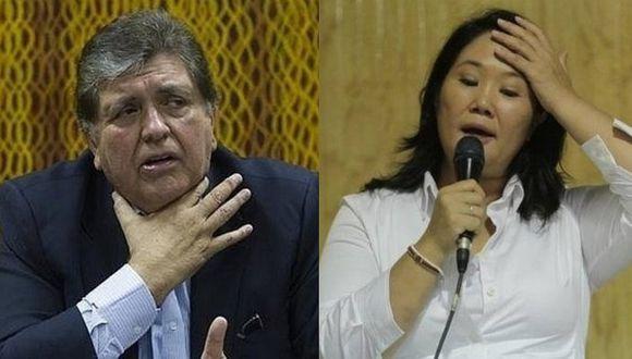 Alan García y Keiko Fujimori tienen la más alta desaprobación popular, según Ipsos