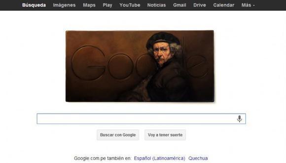 Doodle de Google celebra el 407 aniversario de Rembrandt van Rijn