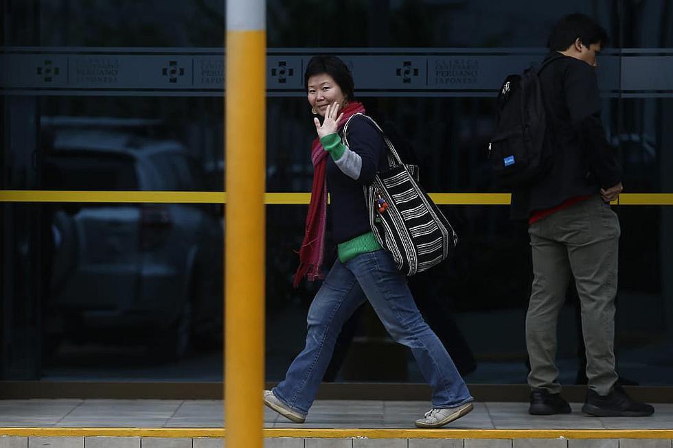 Sachi Fujimori visita a su hermana Keiko en Clínica Centenario (FOTOS)
