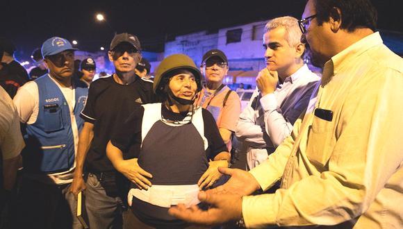 La Victoria: Susel Paredes encabeza operativo portando chaleco antibalas y casco militar (VIDEO)