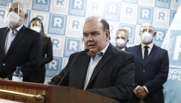Rafael López Aliaga también cuestionó la posición del excandidato presidencial de Avanza País Hernando de Soto. (Foto: César Campos/@photo.gec)