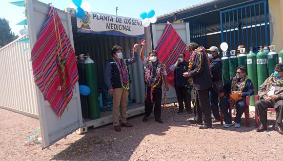 Alcalde provincial anunció que la segunda planta llegará la primera semana de diciembre. (Foto: Feliciano Gutiérrez)