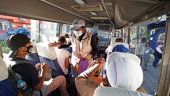 Arequipa: Unidades del SIT seguirán con el 50 % de aforo de pasajeros durante este mes