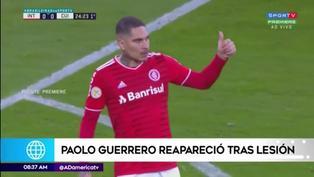 Paolo Guerrero arrancó de titular en el Inter tras superar lesión