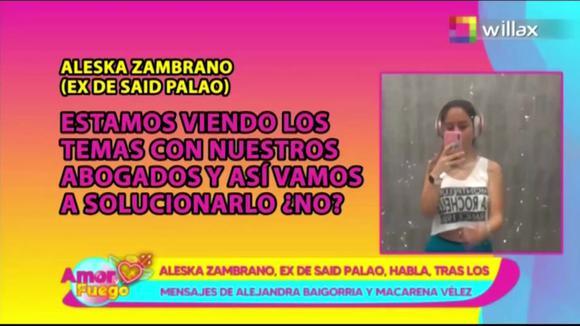 Former partner Saida Palao meets Alejandra Baigorria