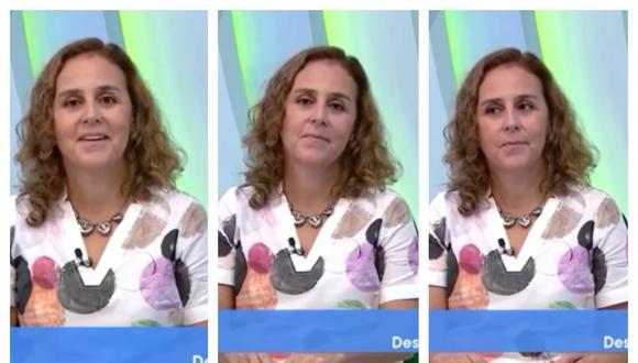 Patricia García pasó un incómodo momento en la conducción de Contigo en Casa. Collage: Correo / GEC