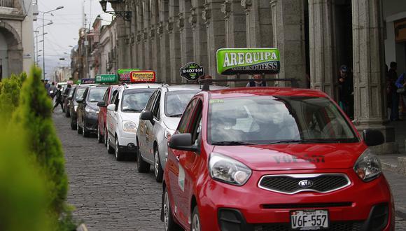 Arequipa: Taxista amenazan con ola de protestas si municipalidad provincial de Arequipa no les permite trabajar. (foto referencial)