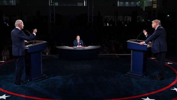 Donald Trump y Joe Biden tuvieron un debate en Cleveland que dejó varias frases para el recuerdo. (AFP/Olivier DOULIERY).