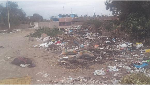 Acumulación de basura en el sector Morropillo