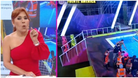 Magaly Medina critica nuevo accidente en 'Esto es Guerra' protagonizado por el tiktoker Alejandro Pino. (Fuente: Captura ATV)