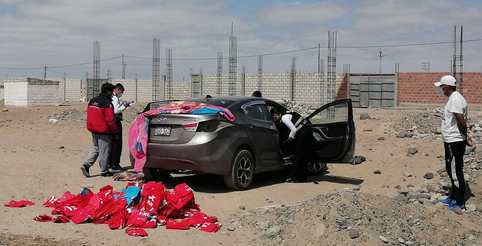 Desmantelan automóvil de empresarios que llegaron de Puno