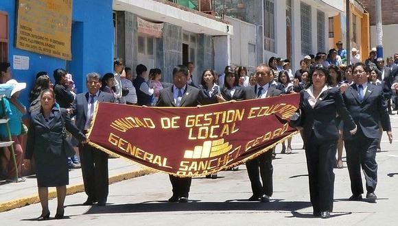 Declaran no elegibles 27 plazas docentes en Sánchez Cerro